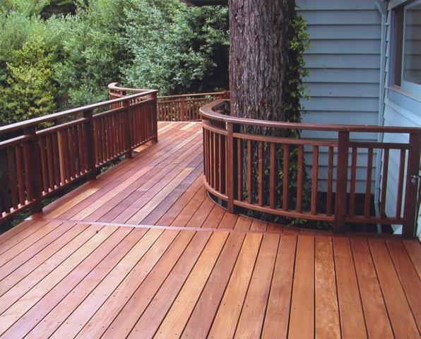 Spring is an ideal time to refinish a wood deck. Photo: Clough Construction (2014)