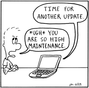 computer operating system updates comic