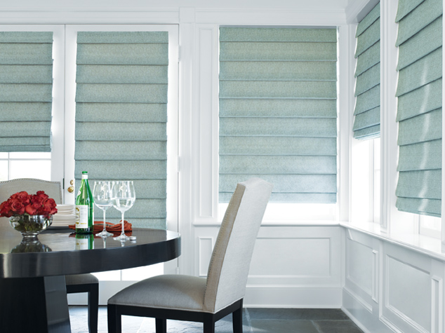 window coverings in dining room