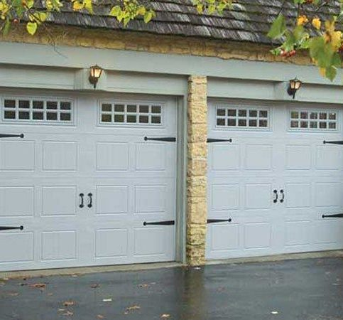 Steel Stamped, Carriage Style Garage Doors With Faux Hardware In Walnut  Creek
