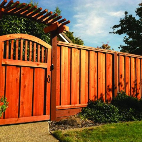 A Custom 2 Gate With An Arched Trellis J Fencing