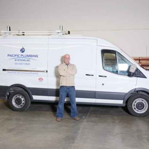 510405114ba426 Owner Ron Beesley stands next to one of Pacific Plumbing Systems‰  service  vans.