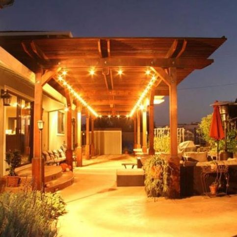 Penny Pinching Construction Remodeling Built This Redwood Arbor In A Client S Backyard