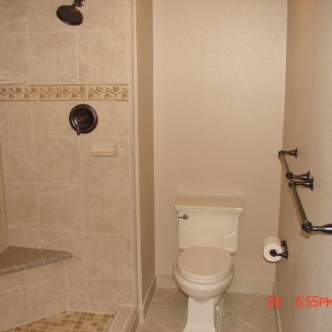 Penny Pinching Construction Remodeling Handled The Plumbing And Installed Sheetrock Tile On This Walk In Shower