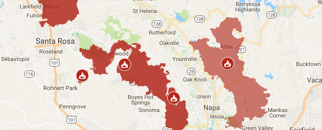 Northbay Fire Map.North Bay Fires Recovery Free Pdf Download Resources Information