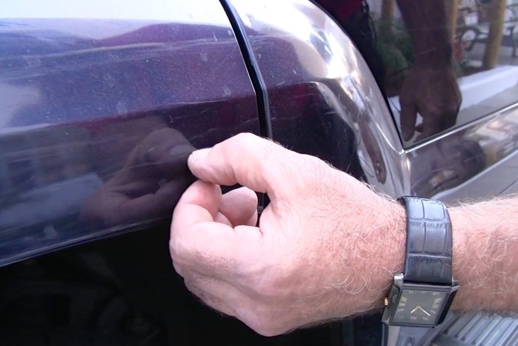 test a scratch on your car