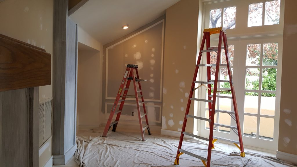 interior painting project ladders