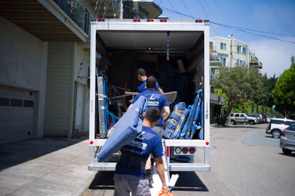 packing a moving van