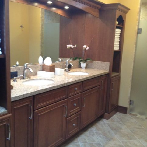 The Tile Grout King Installed This Granite Vanity Top And Floor