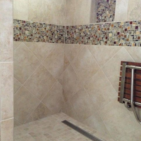 The Tile Grout King Designed And Installed This Public Shower At A Local Gym