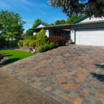 pitched paving stone driveway in Sacramento