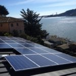 solar panel on home near water