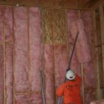 fiberglass batt insulation installation in Sacramento home