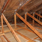 radiant barrier installed in attic