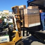 Sacramento movers packing a moving truck