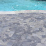 paving stone pool deck by masonry contractors in Sacramento