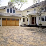 masonry contractors used paving stones to build this Sacramento driveway