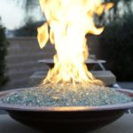 fire glass in bowl