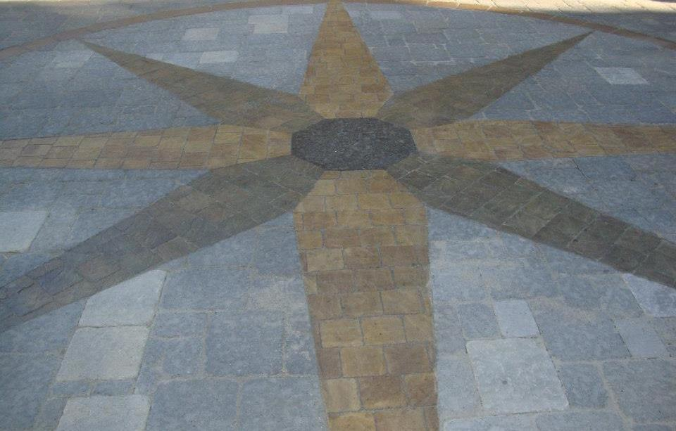 pattern with paving stones