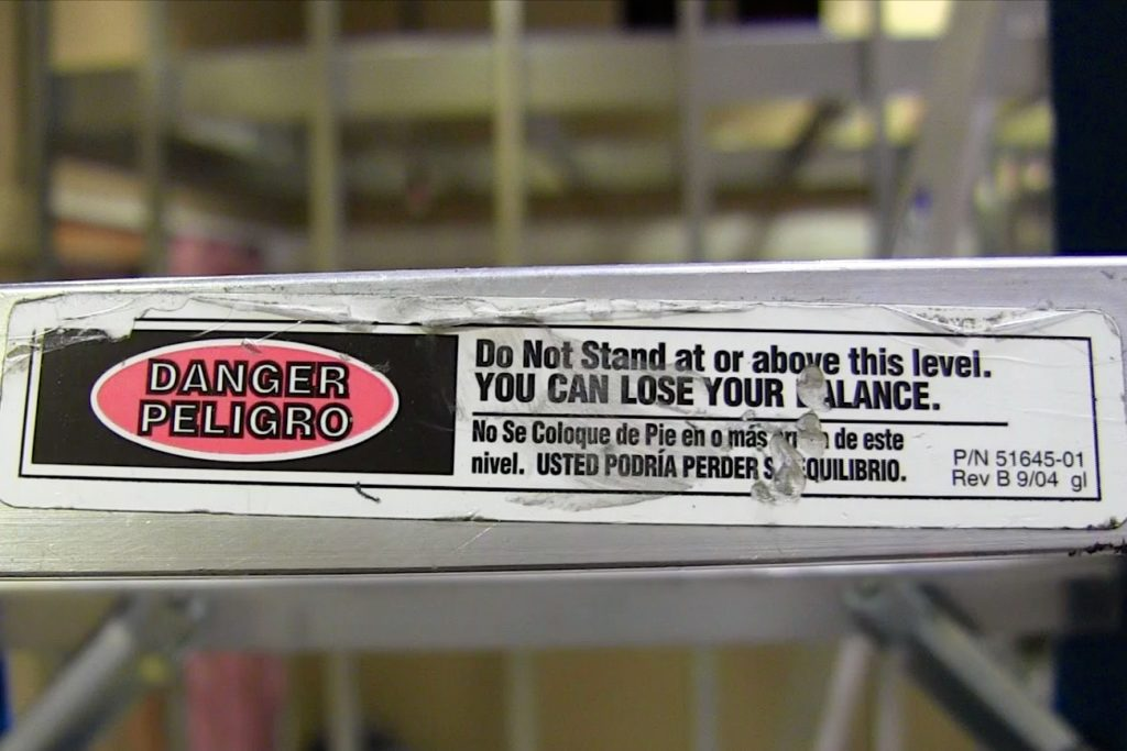 ladder safety warning instructions