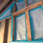 plastic covering mold removal site