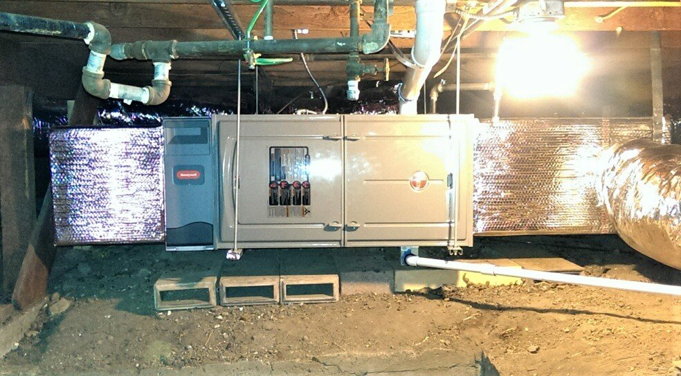 hvac system installation with air purification system