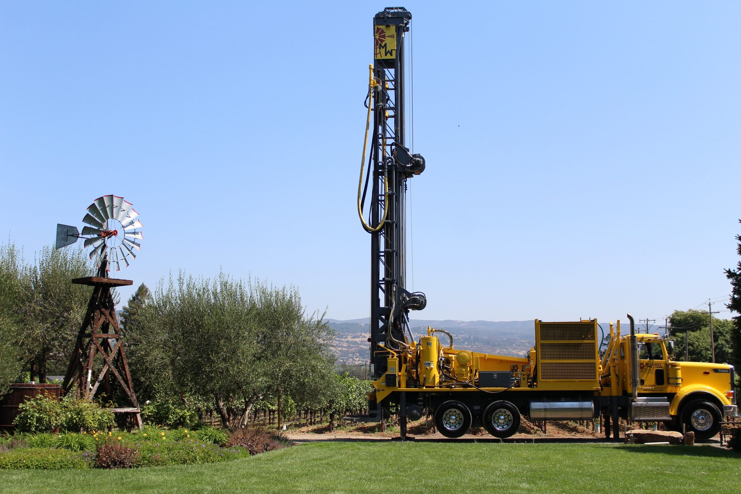 well drilling contractor at work