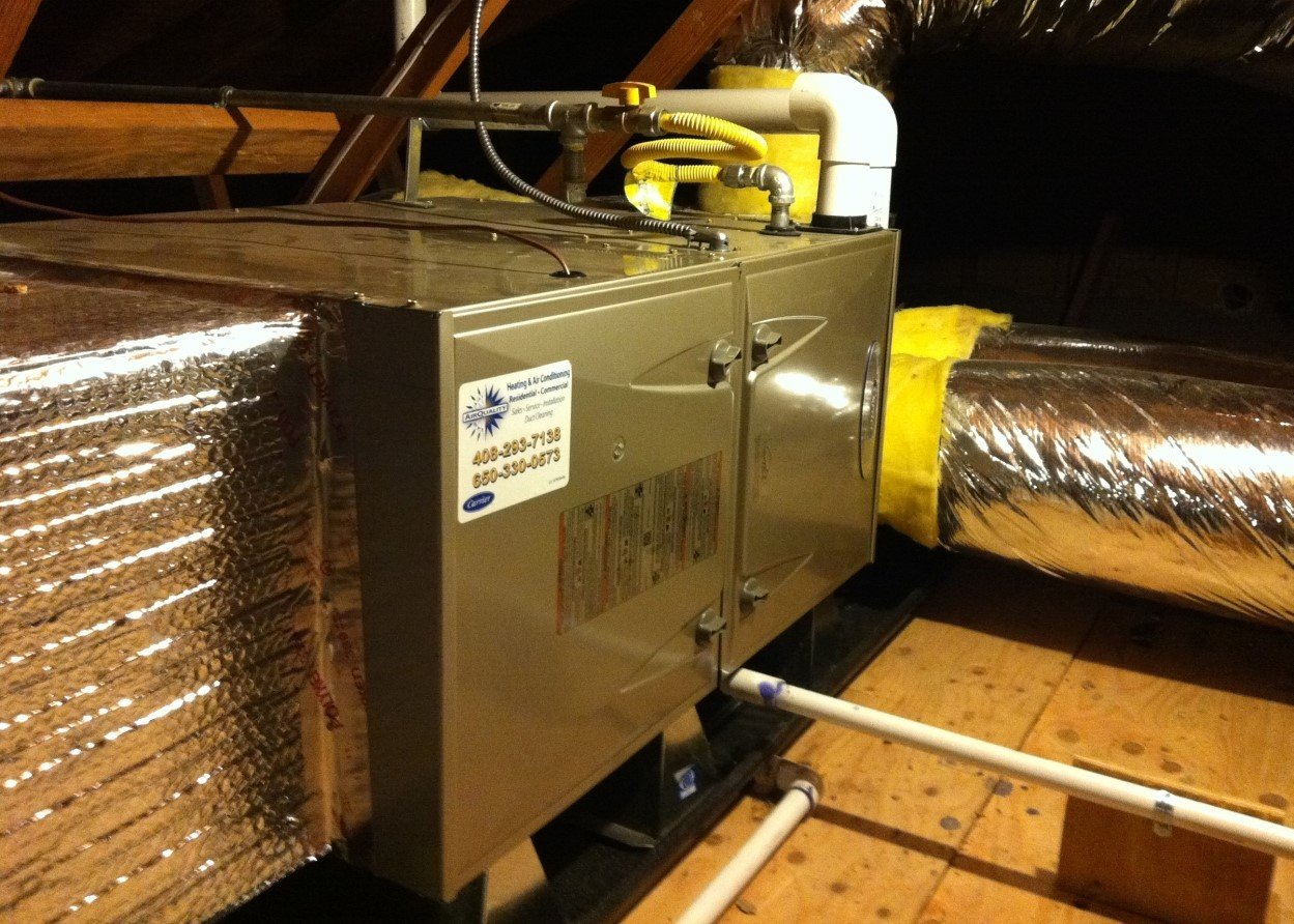 air conditioning system in attic