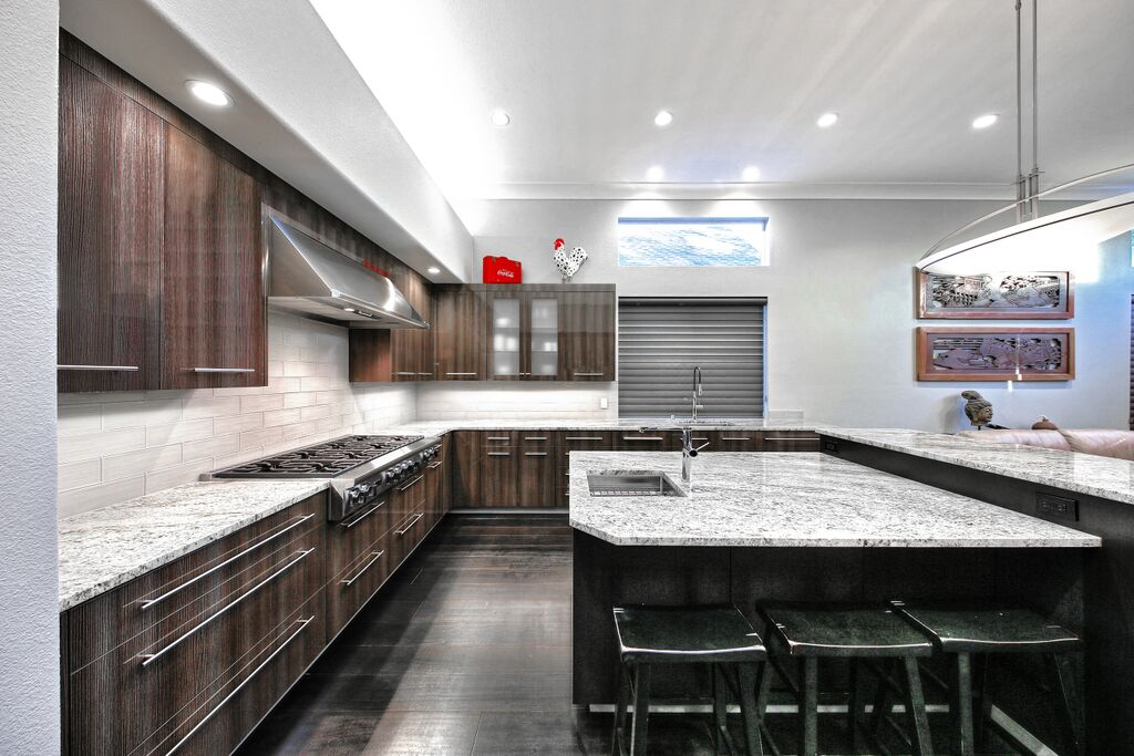 new remodeled kitchen with countertops