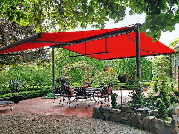 retractable awnings for outside areas