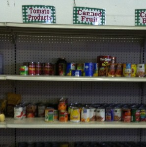 A trip to the food bank