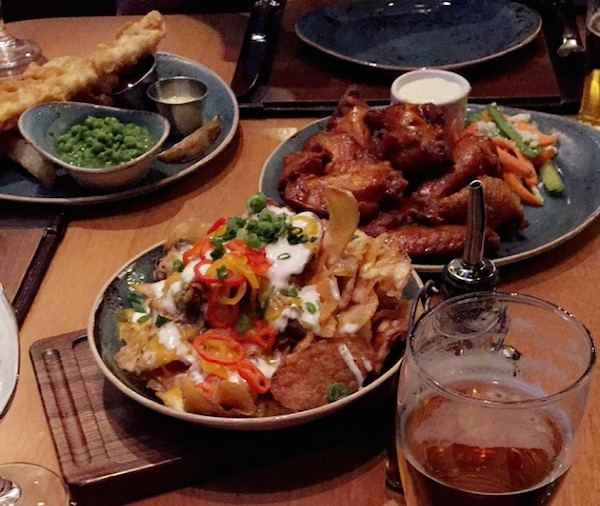 Staying up all night does at least have some reward. The team got to eat a a meal at the Gordon Ramsay Pub & Grill. Photo: American Ratings Corporation, 2016