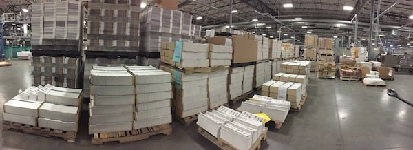 A panoramic view of Creel Printing. There are more then 800,000 prints of the Diamond Certified Directory here!