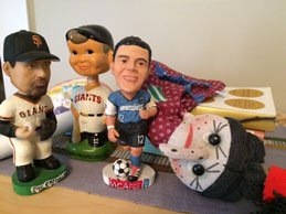 Decluttering your home can make you realize how much extra stuff you've accumulated, like these bobbleheads Chris found.